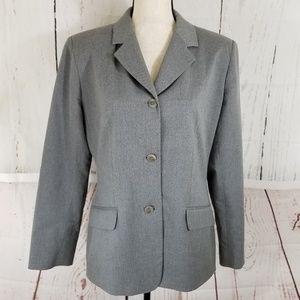 Liz Claiborne Gray Blazer Jacket Sz 10 Long